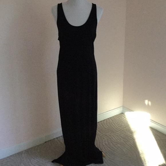 Gap Dresses Simple Sleeveless Black Tank Maxi Dress Poshmark